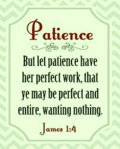 perfect work of patience