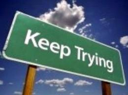 keep trying sign
