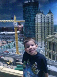 Here's my brother Austin in Miniland.
