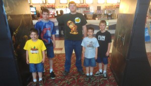 Here's me and 4 of my brothers under the arch at the movie theater.